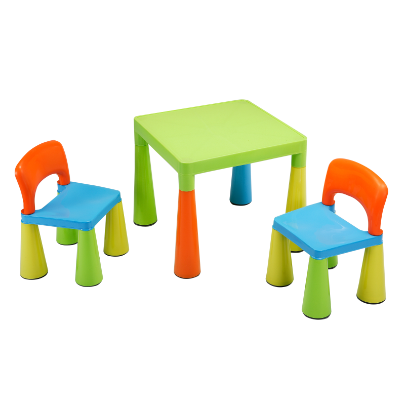 children s multi coloured table chairs set. Black Bedroom Furniture Sets. Home Design Ideas