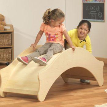 soft play rocker wooden